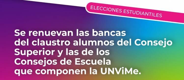 ELECCIONES EN LA UNVIME SE DEFINE ESTA TARDE LOS NUEVOS REPRESENTANTES DE ALUMNOS  EN EL CONSEJO SUPERIOR Y ESCUELAS.