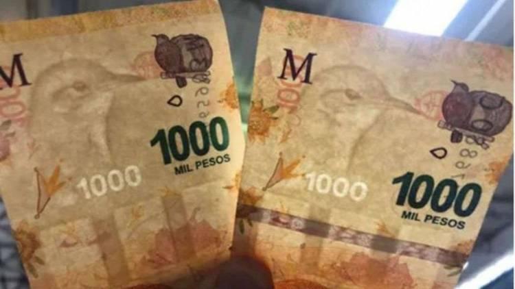 UN BILLETE DE $1.000 CON UN CURIOSO ERROR SE VENDE POR $20.000